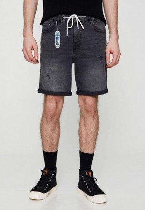 Шорты джинсовые Pull&Bear. Цвет: серый