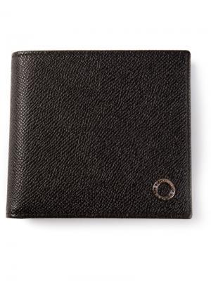 Раскладной бумажник Bulgari. Цвет: чёрный