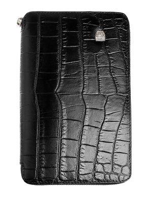Портмоне из текстурированной телячьей кожи с одним отделением на молнии ARTIOLI. Цвет: черный