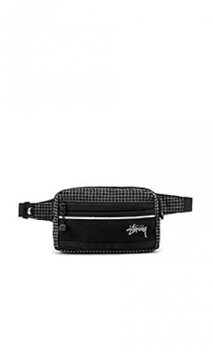 Поясная сумка Stussy. Цвет: черный