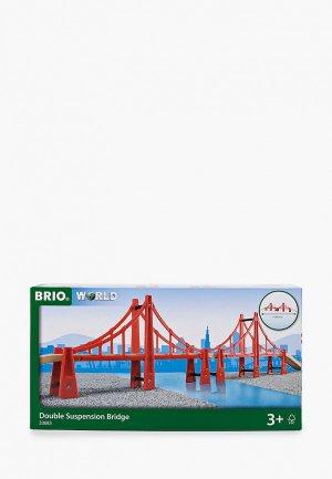 Набор игровой Brio Подвесной мост, двойной, 1135 мм. Цвет: красный