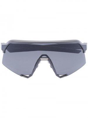 Солнцезащитные очки S3 100% Eyewear. Цвет: серый
