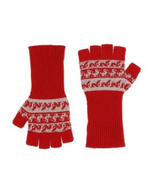 Перчатки BURBERRY. Цвет: красный