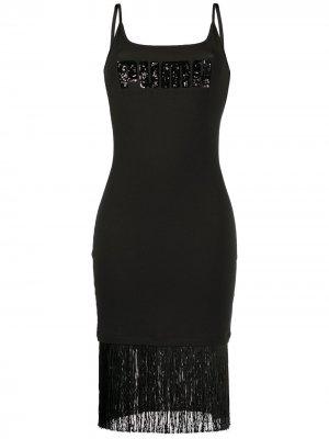 Платье с логотипом и квадратным вырезом Puma. Цвет: черный