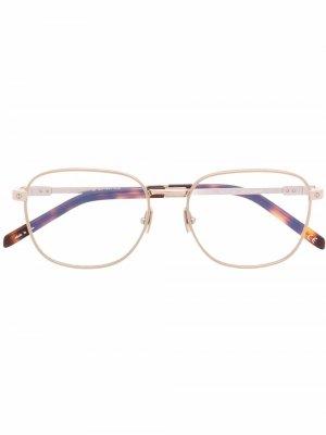 Очки H011O в квадратной оправе Hublot Eyewear. Цвет: золотистый
