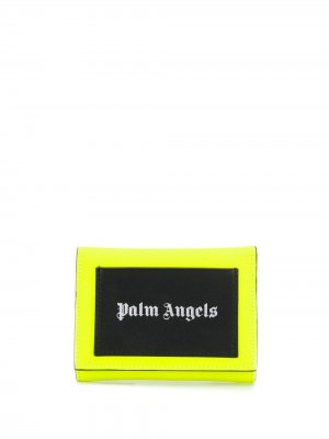 Кошелек с логотипом Palm Angels. Цвет: желтый