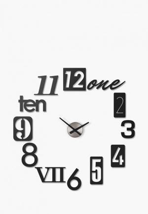 Часы настенные Umbra Numbra. Цвет: черный