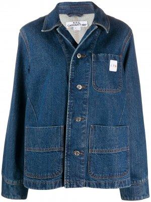 Джинсовая куртка оверсайз A.P.C.. Цвет: синий