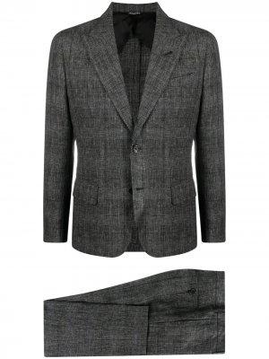 Клетчатый костюм с однобортным пиджаком Reveres 1949. Цвет: серый