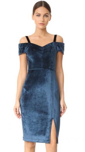 Платье с открытыми плечами Yigal Azrouel. Цвет: пустынный голубой