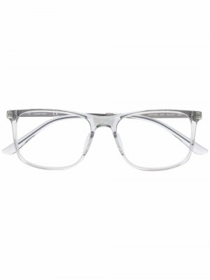 Очки в прозрачной квадратной оправе Calvin Klein. Цвет: синий
