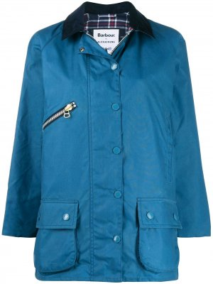 Zip-detail parka coat Barbour