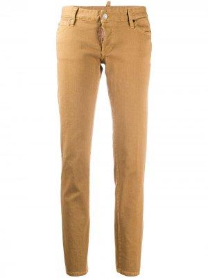 Зауженные джинсы Dsquared2. Цвет: нейтральные цвета