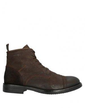 Полусапоги и высокие ботинки AMBITIOUS. Цвет: какао