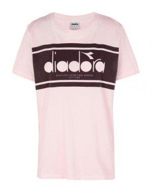 Футболка DIADORA. Цвет: светло-розовый