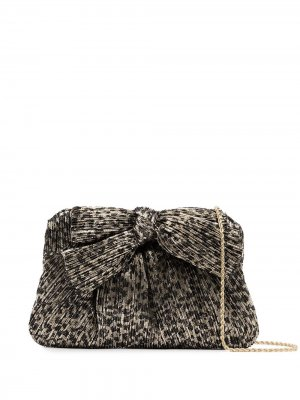 Плиссированный клатч Rayne с леопардовым принтом Loeffler Randall. Цвет: черный