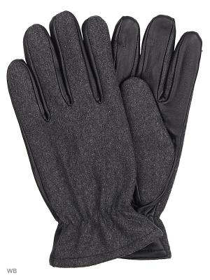 Перчатки Jack&Jones. Цвет: черный