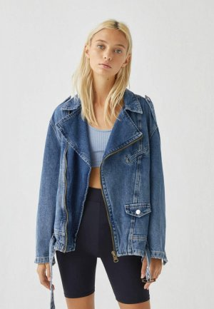 Куртка джинсовая Pull&Bear DISNEY. Цвет: синий