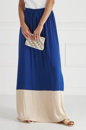 Комбинированная юбка HOSS INTROPIA. Цвет: синий