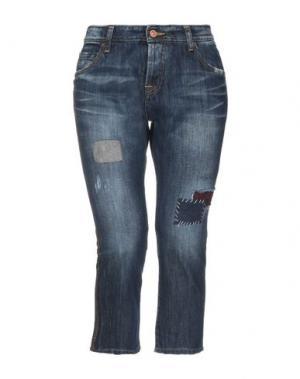 Джинсовые брюки-капри LABELROUTE. Цвет: синий