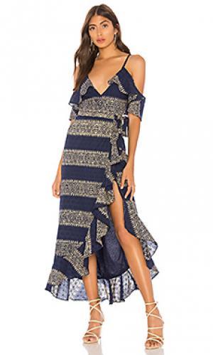 Макси платье margie Tularosa. Цвет: синий
