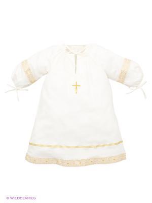 Рубашка Ангел мой. Цвет: молочный, золотистый