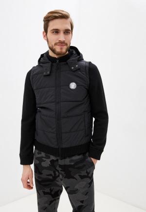 Куртка утепленная Plein Sport. Цвет: черный