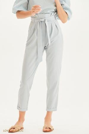 Укороченные брюки с высокой посадкой LOVE REPUBLIC