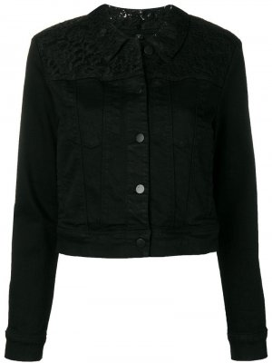 Джинсовая куртка с кружевом J Brand. Цвет: черный