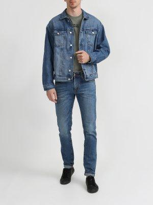 Джинсовая куртка Armani Exchange. Цвет: siniy