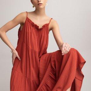 Платье-макси LaRedoute. Цвет: красный