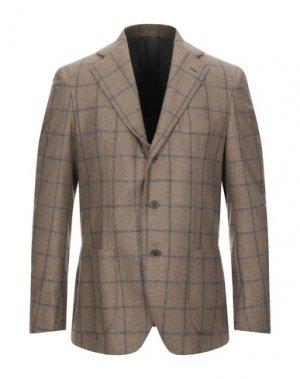 Пиджак GABO Napoli. Цвет: светло-коричневый