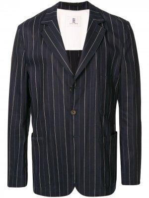 Полосатый пиджак с карманами Kent & Curwen. Цвет: синий