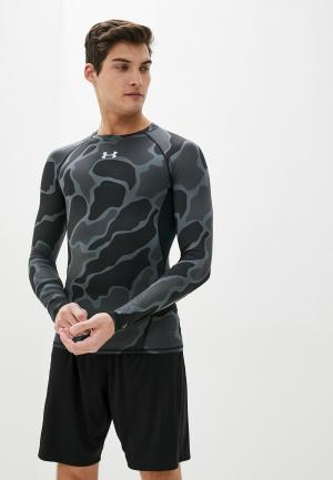 Лонгслив спортивный Under Armour UA HG LS NOV. Цвет: серый