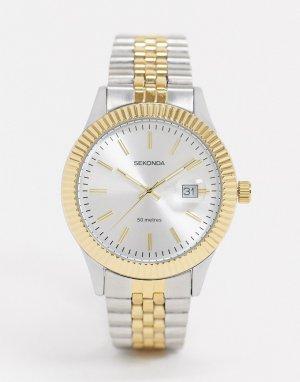Часы-браслет из металла разных цветов эксклюзивно на Asos-Серебристый Sekonda