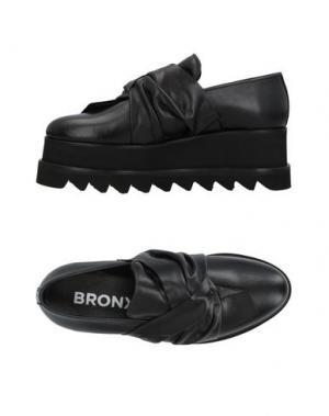 Мокасины BRONX. Цвет: черный