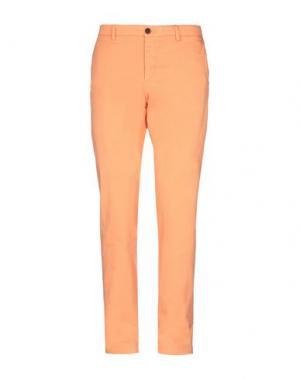 Повседневные брюки HENRY COTTON'S. Цвет: оранжевый