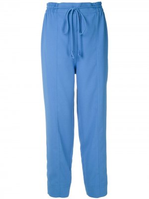 Зауженные брюки с поясом Martha Medeiros. Цвет: синий
