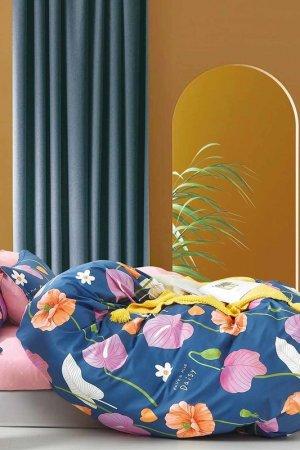 Постельное белье Дуэт 50x70 Jardin. Цвет: синий, розовый