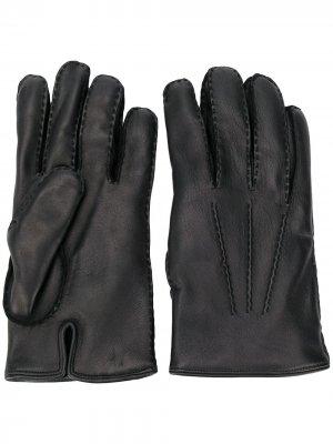 Однотонные перчатки Ermenegildo Zegna. Цвет: черный