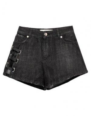 Джинсовые шорты EACH X OTHER. Цвет: черный