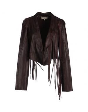 Верхняя одежда из кожи JASMINE DI MILO. Цвет: баклажанный
