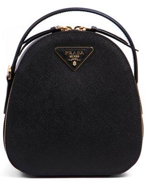 Кожаный рюкзак PRADA. Цвет: черный
