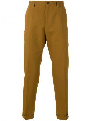 Классические брюки-чинос Dolce & Gabbana. Цвет: коричневый