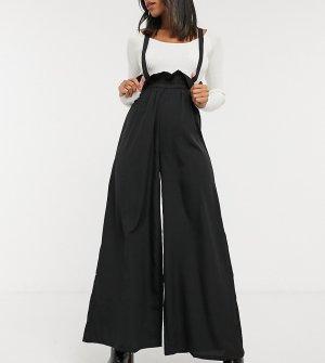 Широкие брюки с подтяжками -Черный Verona