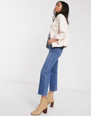 Розовая джинсовая куртка -Розовый Only