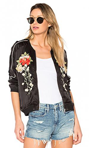 Куртка-бомбер с вышивкой BLANKNYC. Цвет: черный