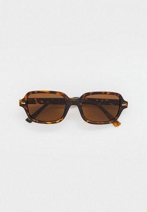 Очки солнцезащитные Bocciolo. Цвет: коричневый