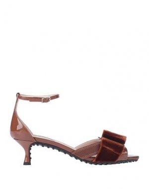Сандалии ALESSANDRO DELL'ACQUA x TOD'S. Цвет: коричневый