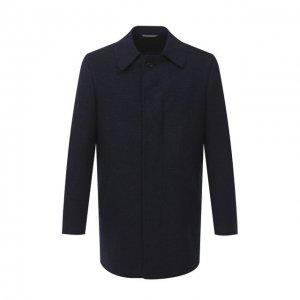 Пальто из шерсти и кашемира Canali. Цвет: синий